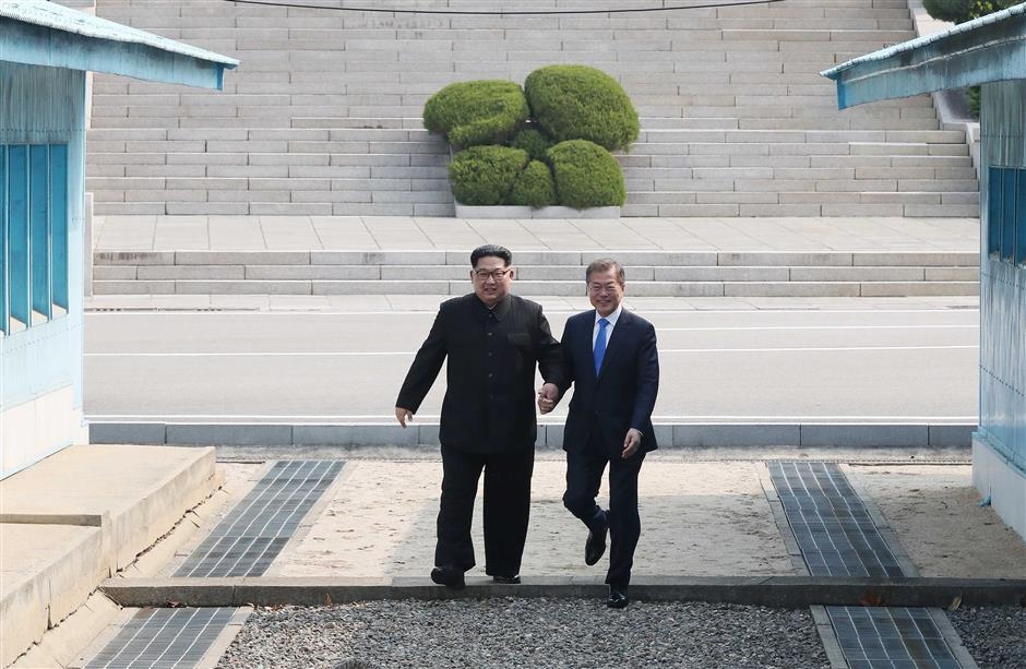 Frontier foxtrot: Moon and Kim's unprompted DMZ dance