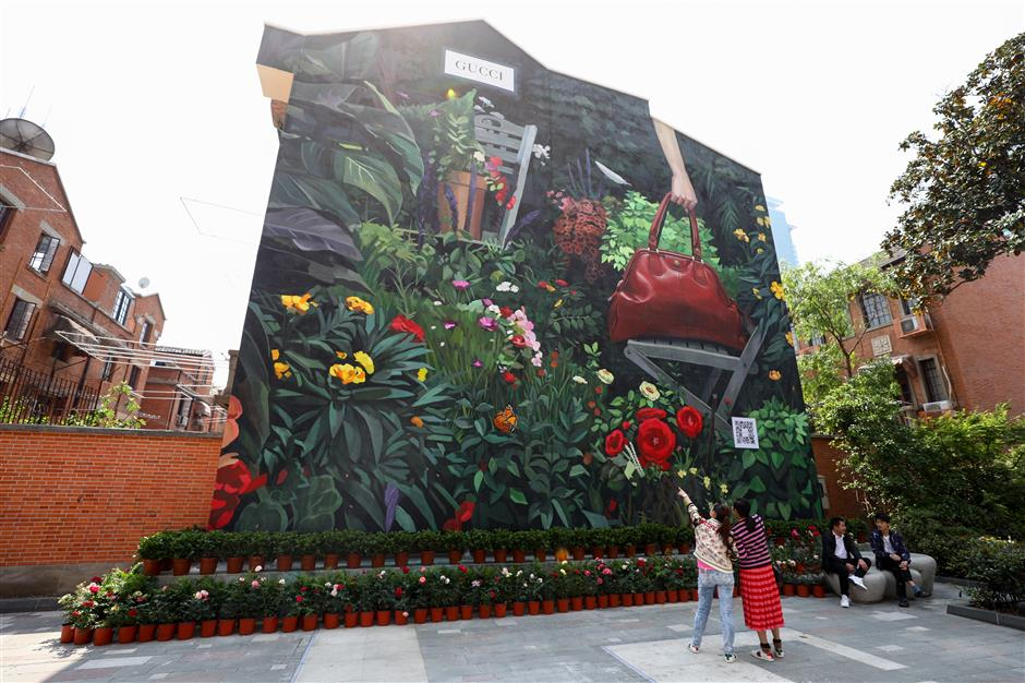Art, lively displays add bounce to downtown environment