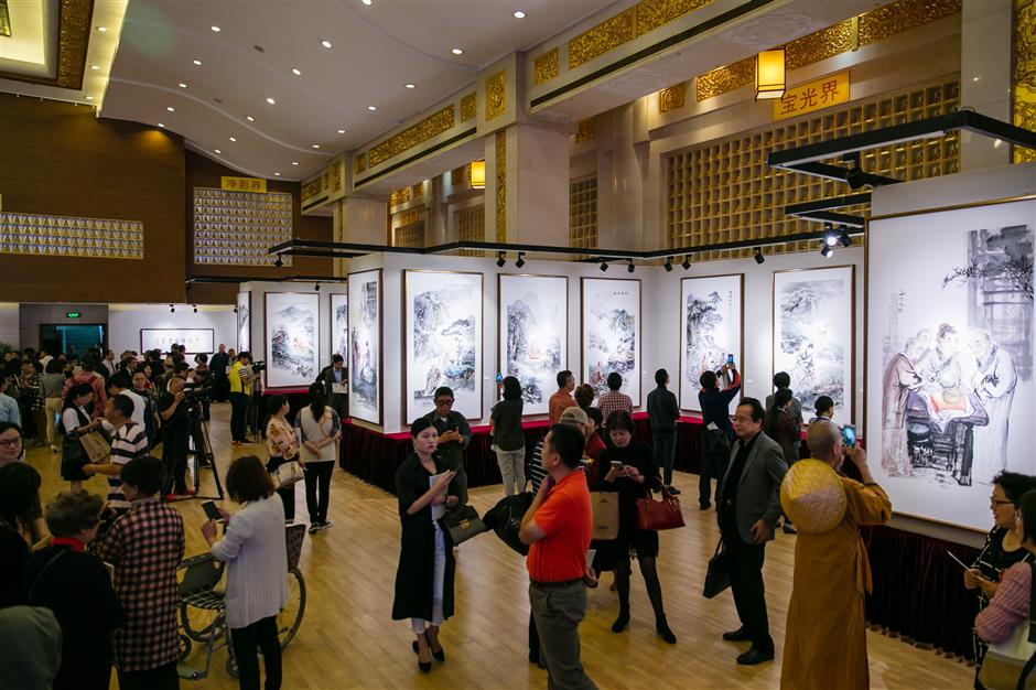 Exhibitions about Zen patriarch starts in city temple
