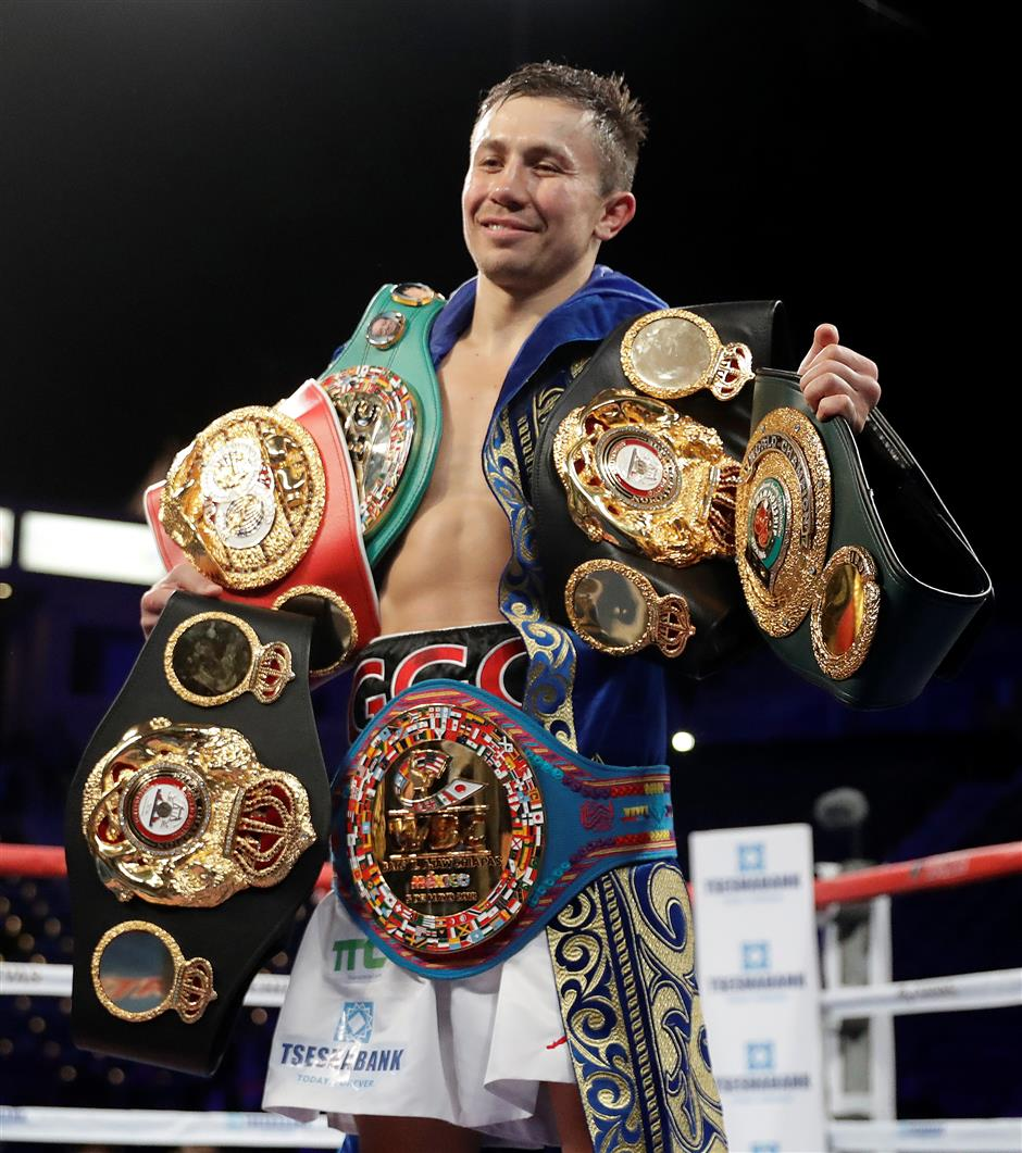 Golovkin defends middleweight titles