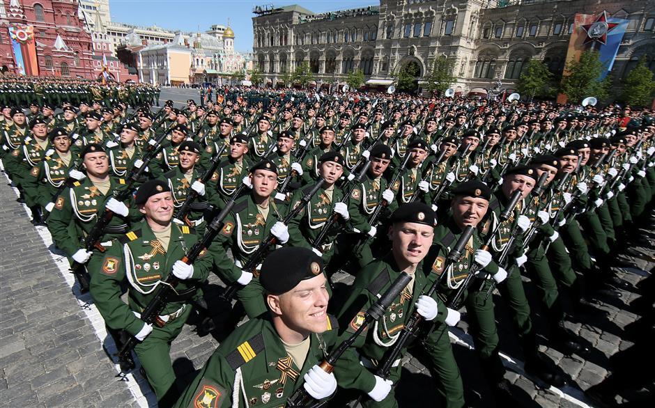Russia shows off latest military hardware at annual V-Day parade