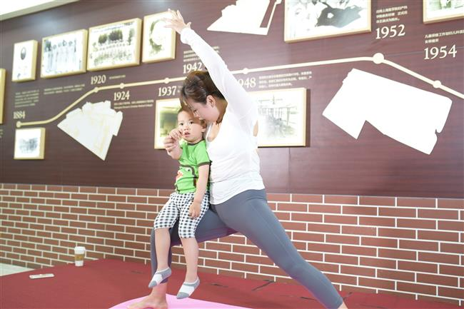 Mother and baby yoga classes a hit on Mother's Day