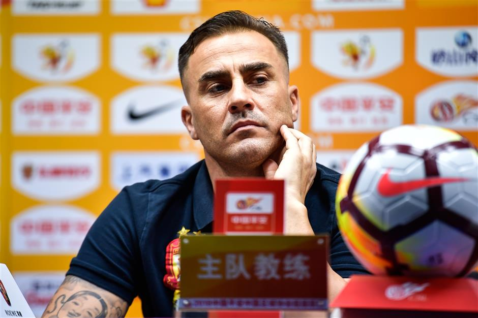 Cannavaro on back foot in battle for 'toxic' China top spot