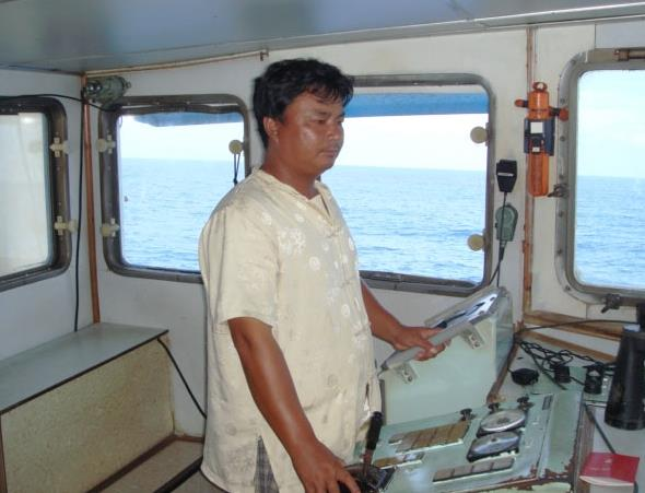 On the high seas, modern fisherman hauls in the catches