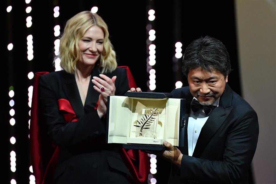 'Shoplifters' wins the Palme d'Or at Cannes