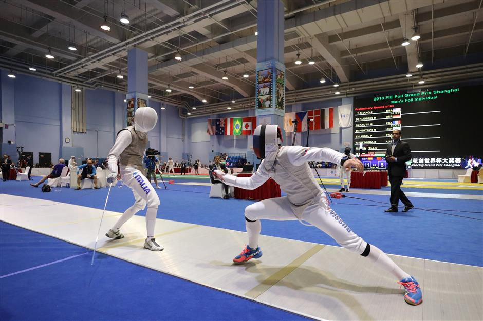 300 fencers from 31 countries compete in Jing'an District