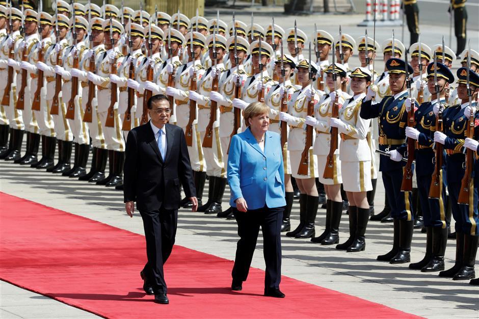 China's Premier Li says China and Germany uphold free trade