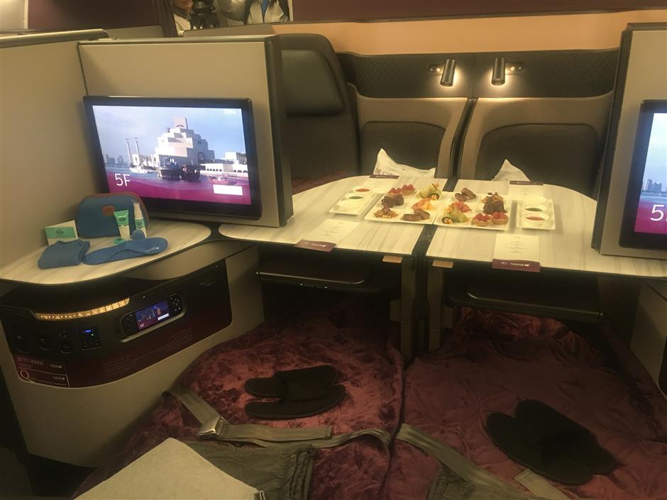 Qatar Airways offer luxuryQsuite on Shanghai flights