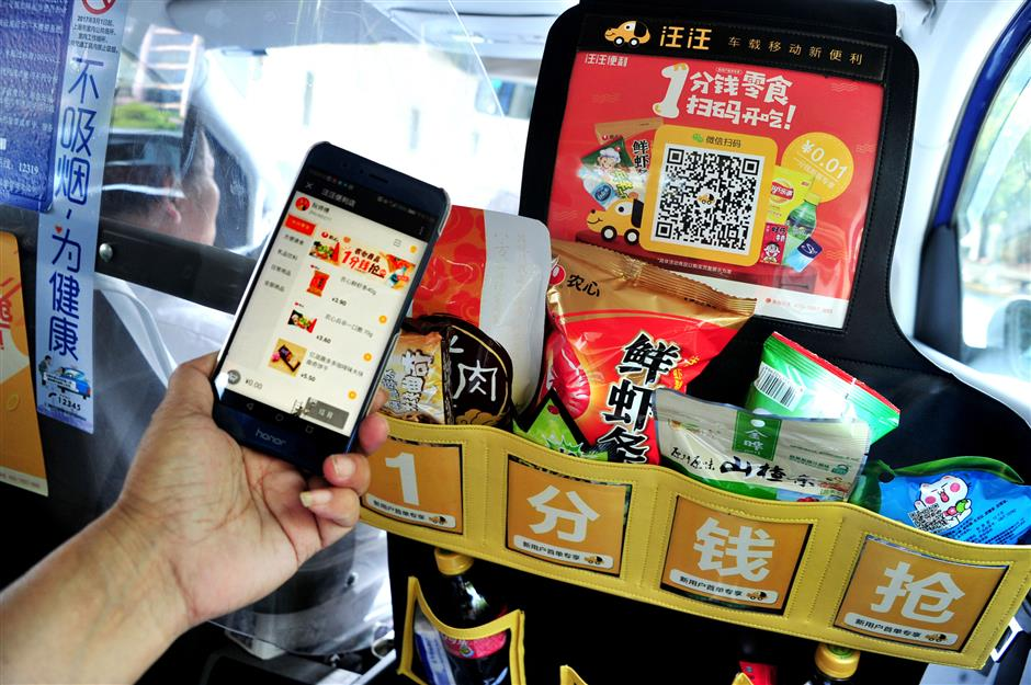 Help-yourself taxi snack pockets taken down by authorities