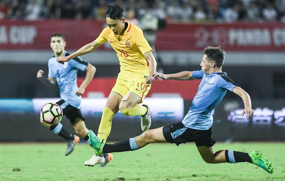 China U19 beat Uruguay 3-1 to lift Panda Cup trophy