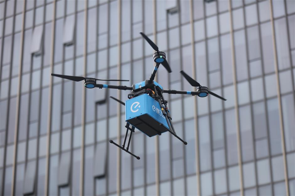 Drone food delivery lifts off in Jinshan