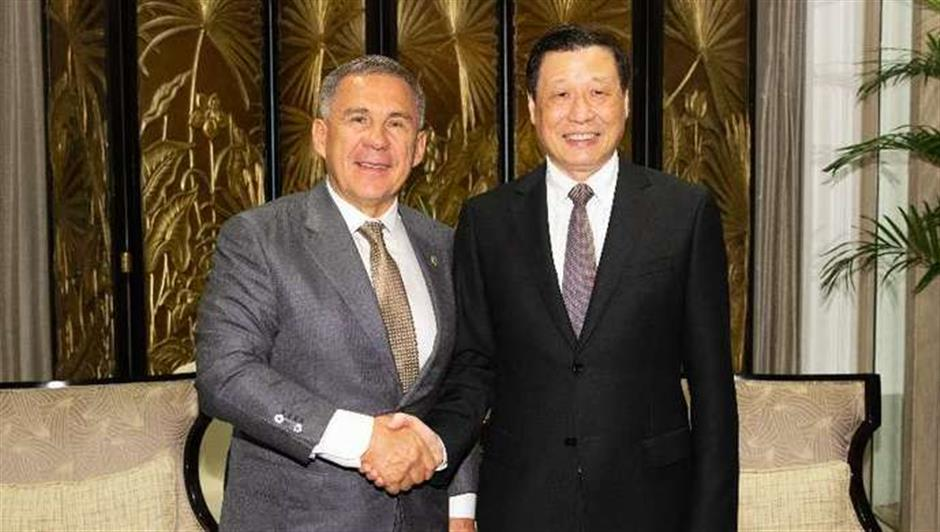 Shanghai mayor meets Russian, US and French guests separately