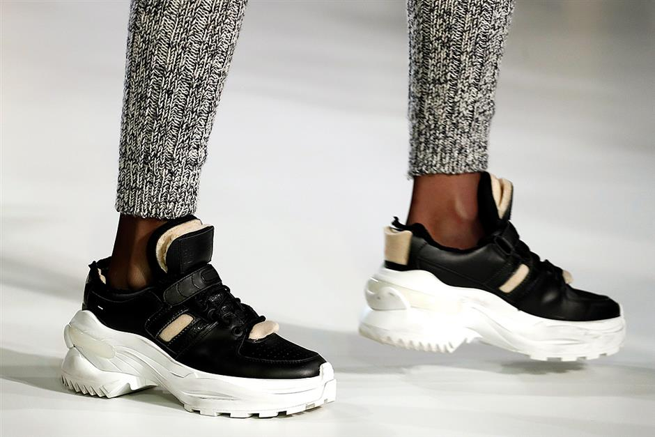 Fashion and sport sneakers' clash