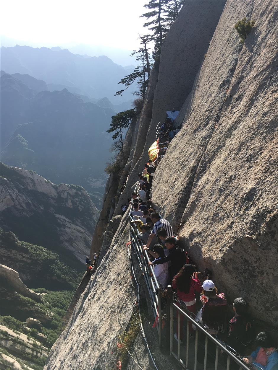 Defying death on sheer cliffsides