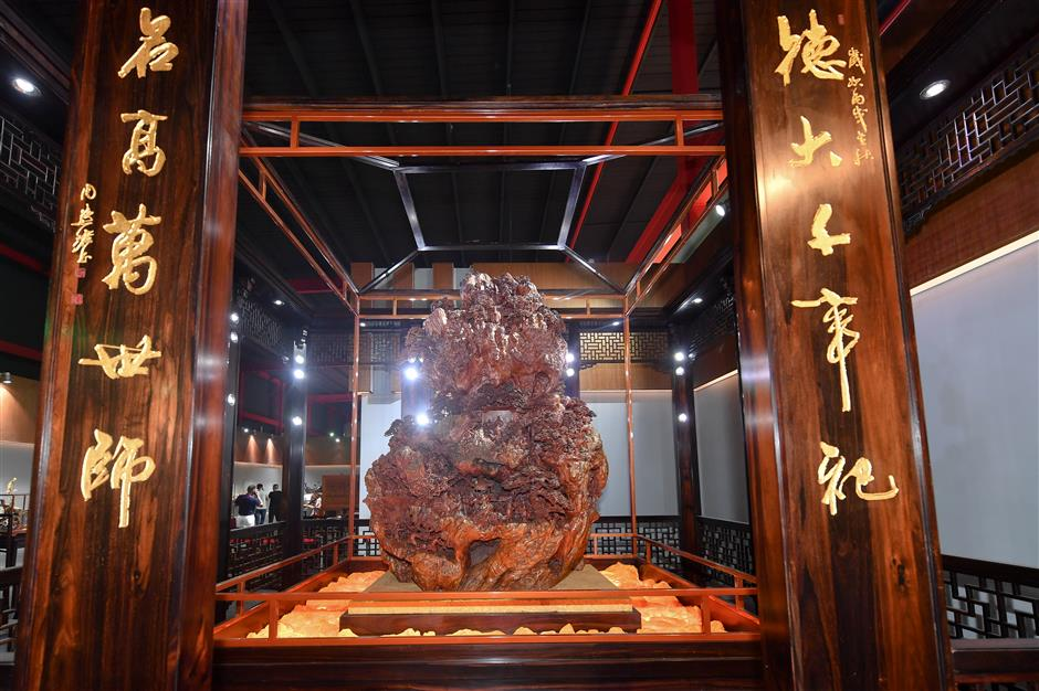 Traditional crafts on display in Shanghai