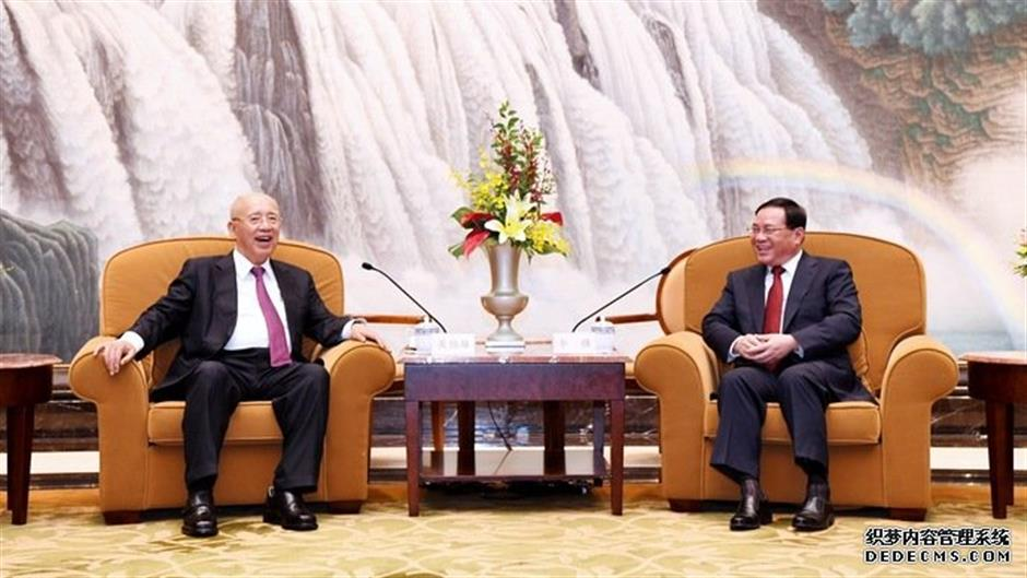 Shanghai Party chief meets KMT Honorary Chairman Wu Po-hsiung