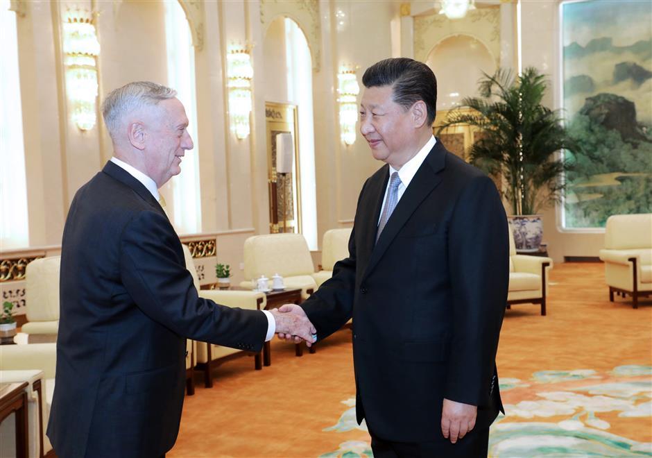 Xi meets with US Secretary of Defense