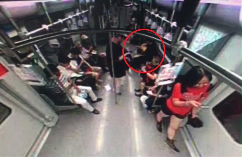 Man detained for playing with fire on Metro train