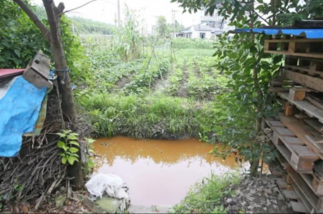 Polluted channel traced to materials firm