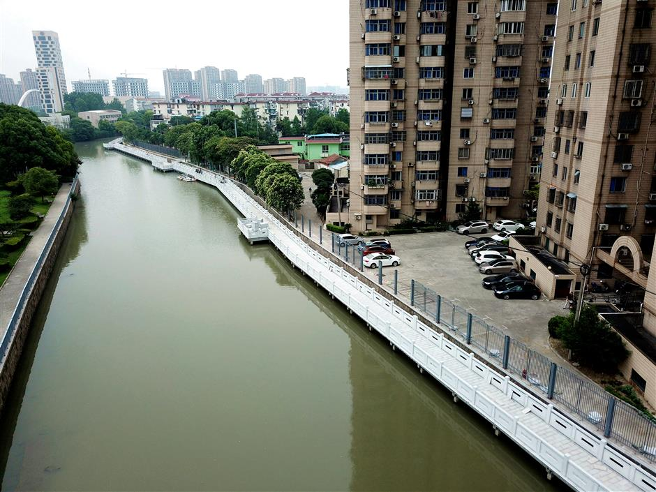 Moat path opens in Jiading