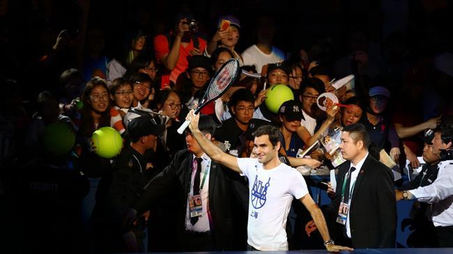 Federer sings birthday song for Rolex Shanghai Masters