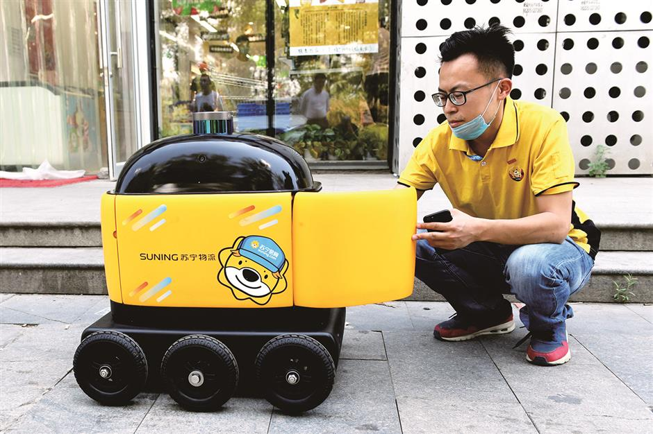 Robots delivering essentials are changing Chinese consumerism