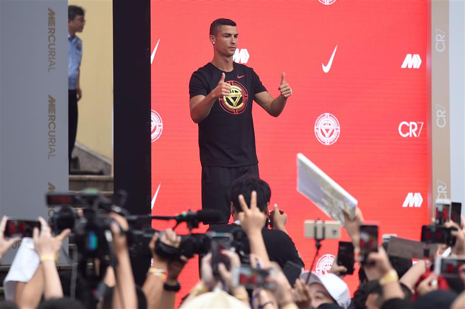 Cristiano Ronaldo reignites football frenzy in China after World Cup