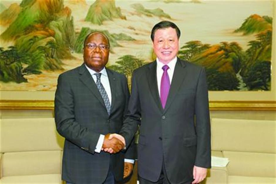 Shanghai mayor meets prime minister of the Republic of the Congo