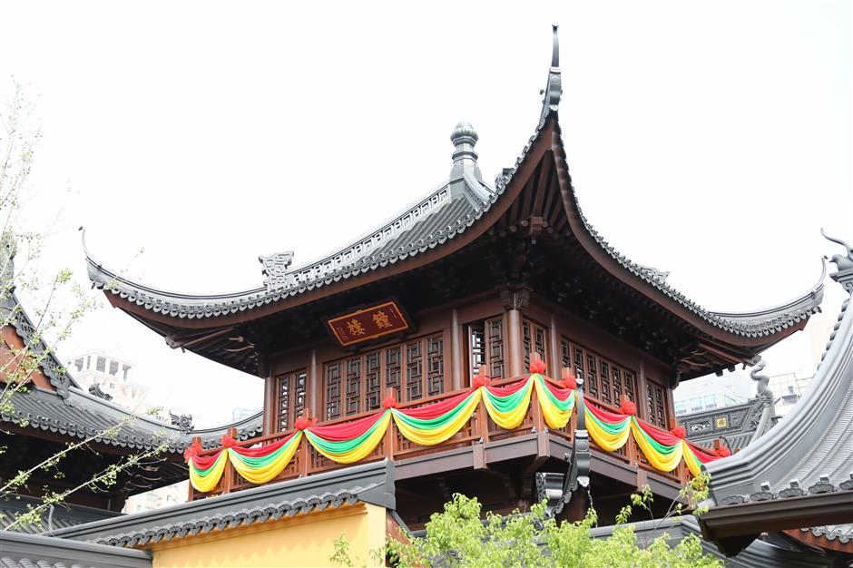 New pavilions finished at Jade Buddha Temple