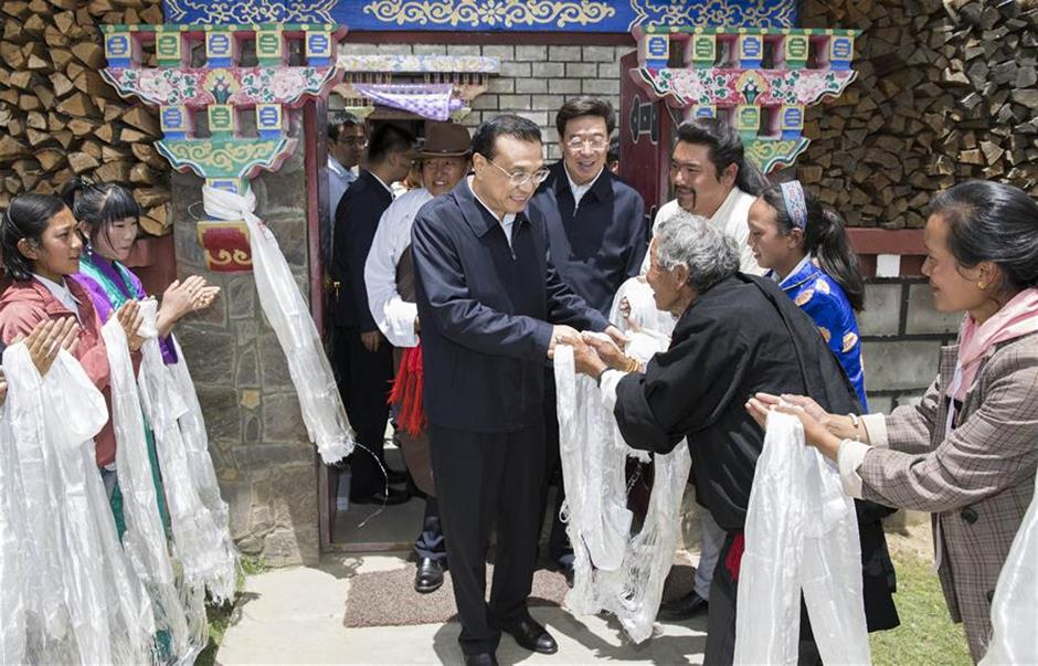 Premier Li stresses sustainable development, prosperity in Tibet