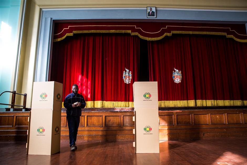 Zimbabwe awaits 1st results of historic, peaceful election