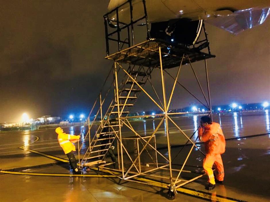 Typhoon Jongdari makes landfall in Shanghai