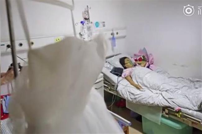 Woman suffering leukemia passes away during hospital wedding