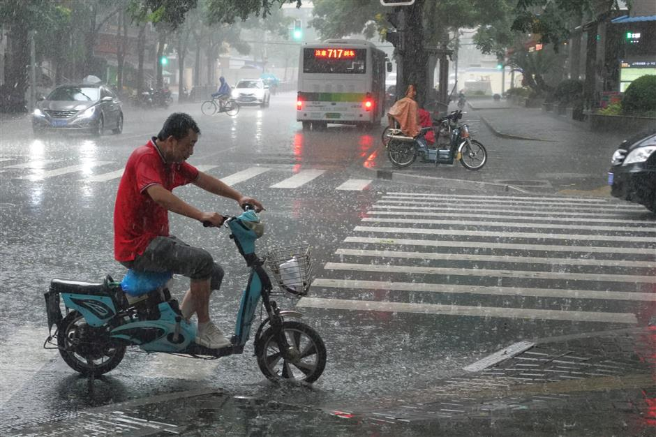 Typhoon Rumbia makes landfall in southern Pudong