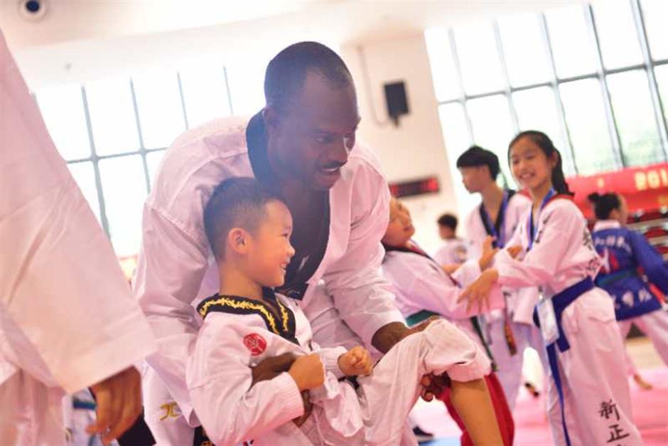 Taekwondo draws crowds