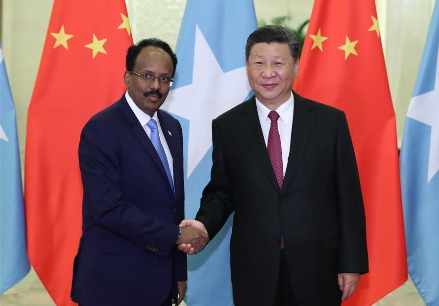 Xi meets with Somali president