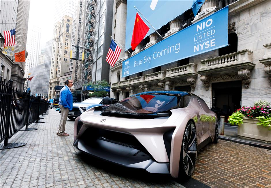 Chinese e-car startup makes NYSE debut
