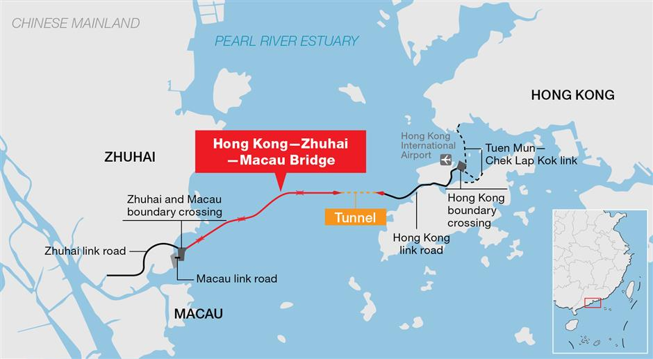 World's longest cross-sea bridge opens, integrating China's Greater Bay Area