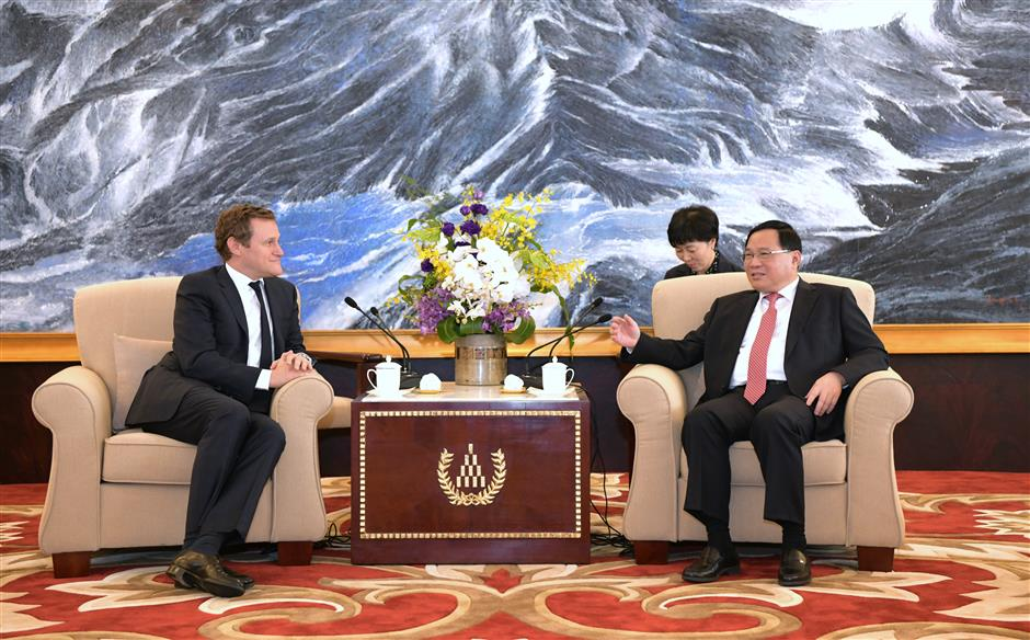 Shanghai Party chief meets global business leaders attending IBLAC