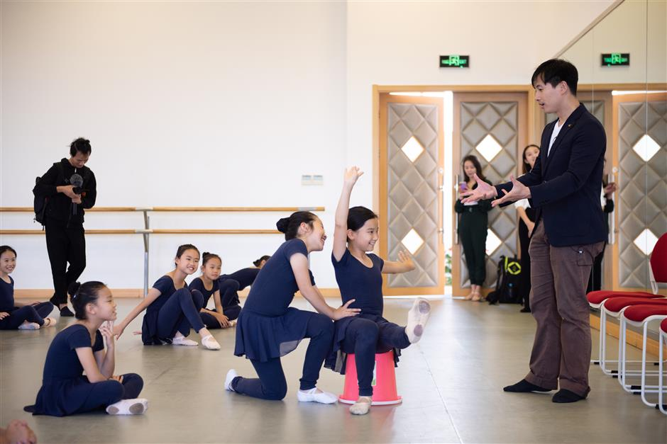 Students inspired by celebrated Chinese dancer's fairy tale story