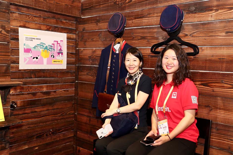Switzerland opens expo pavilion