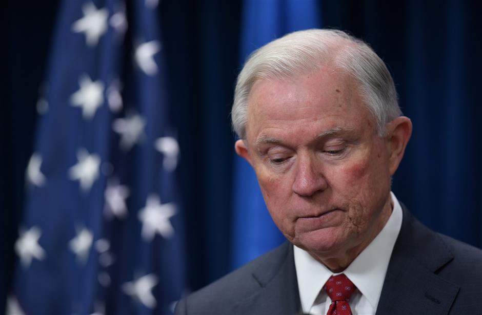 Jeff Sessions steps down as US attorney general at Trump's request