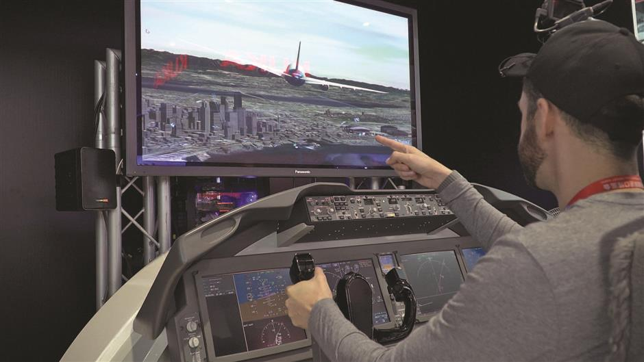 Taking to the skies in the 787 Dreamliner