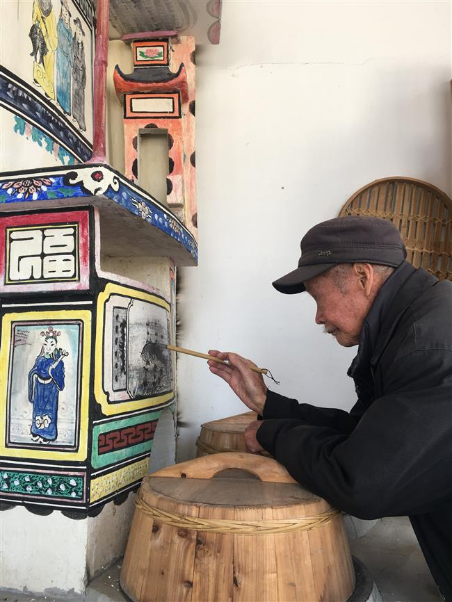 Master craftsman of the stove paintings