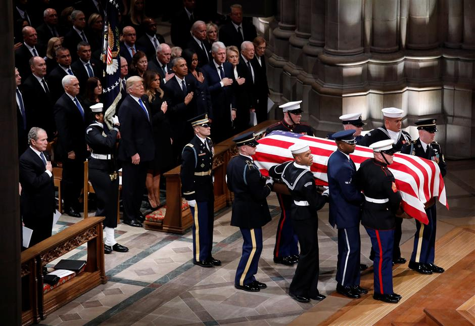 US, foreign leaders attend Bush funeral service
