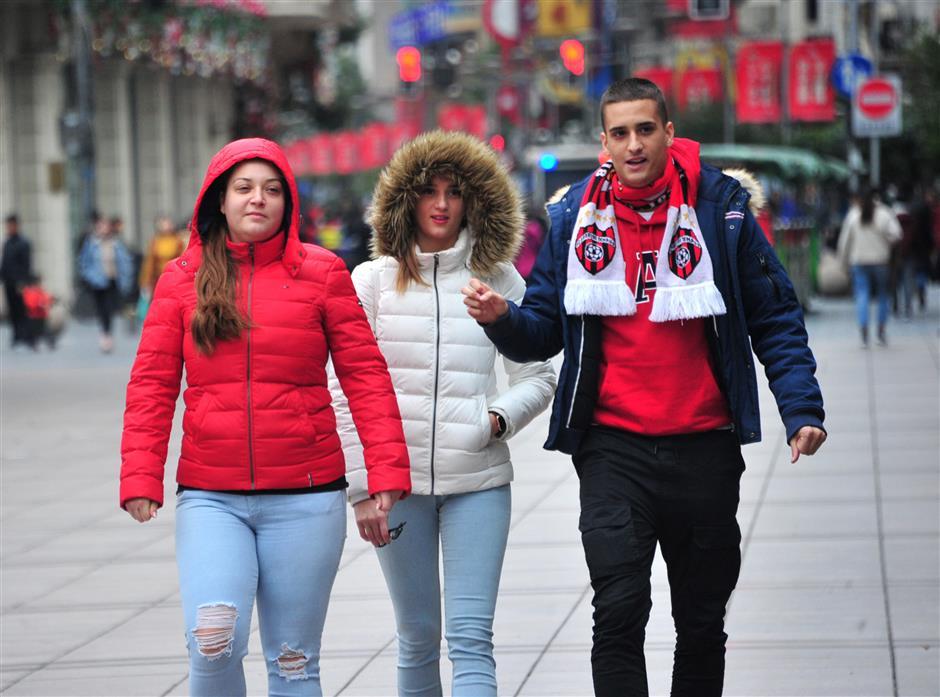 Snowfall forecast as Shanghai enters winter this weekend