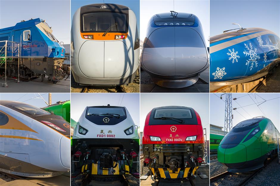 Exhibition Display : New models of fuxing bullet trains debut in beijing