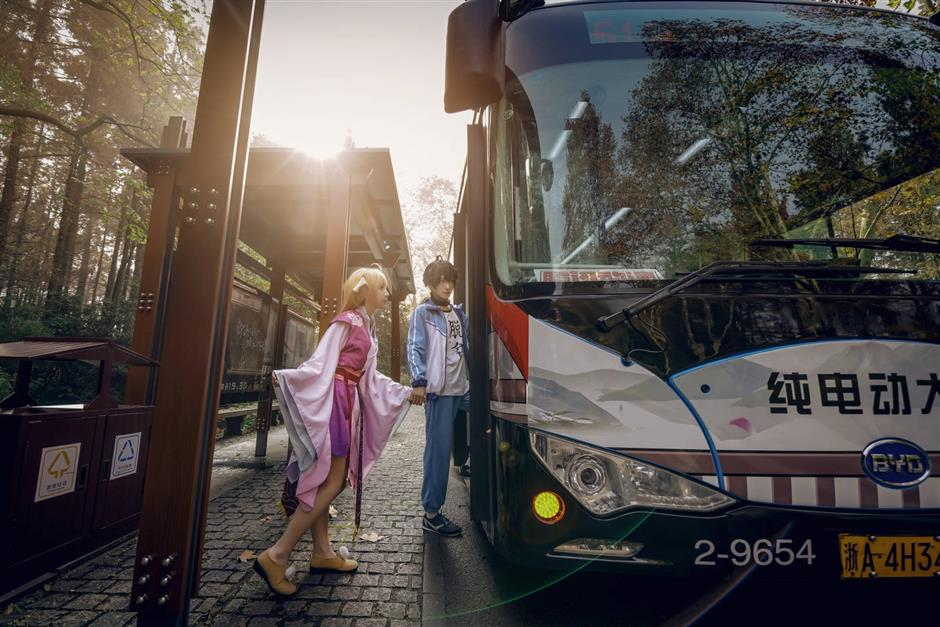 Anime-themed bus route gives the industry a boost