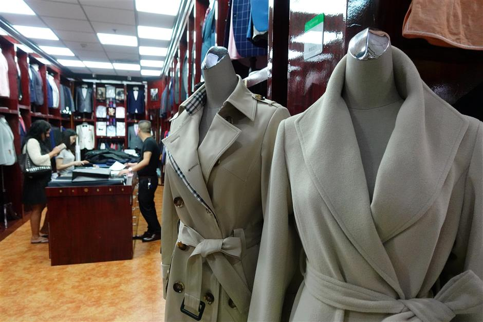 Clothing where you pick style, color, fabric
