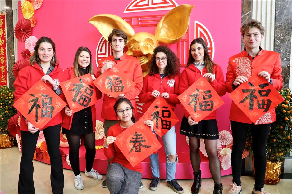 Foreign students celebrate Spring Festival